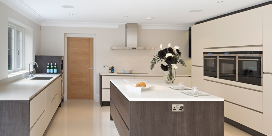 Kitchen renovation with large family island Lancashire home life renovations
